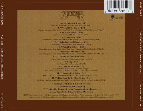 The Singles 1969 1973 Carpenters Songs Reviews