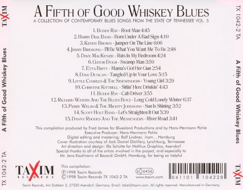 A Fifth of Good Whiskey Blues: A Collection of Contemporary Blues Songs, Vol. 5