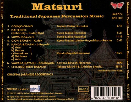 Matsuri: Traditional Japanese Percussion Music