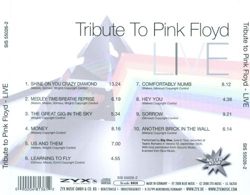 Tribute to Pink Floyd: Live