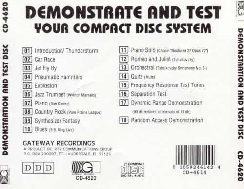 Demonstration and Test CD