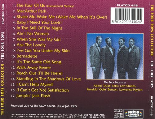 Four Tops Ultimate Collection: The Four Tops Collection - The Four Tops