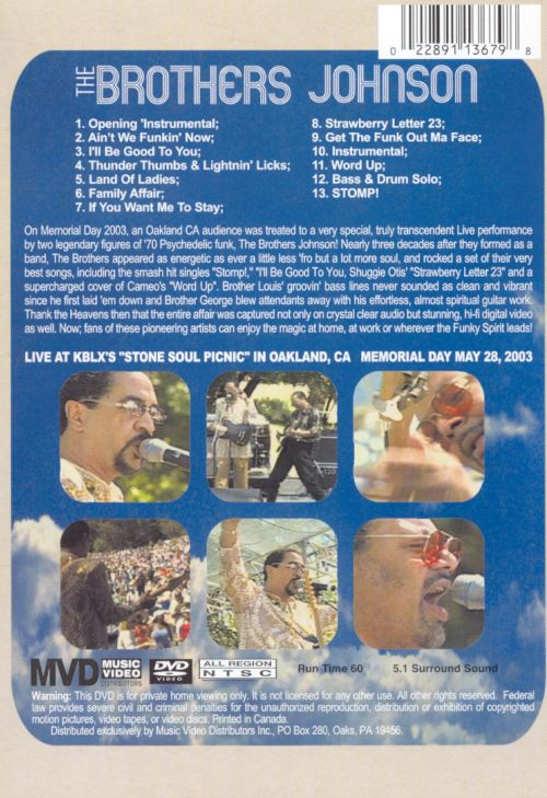 Strawberry Letter 23 Live DVD The Brothers Johnson