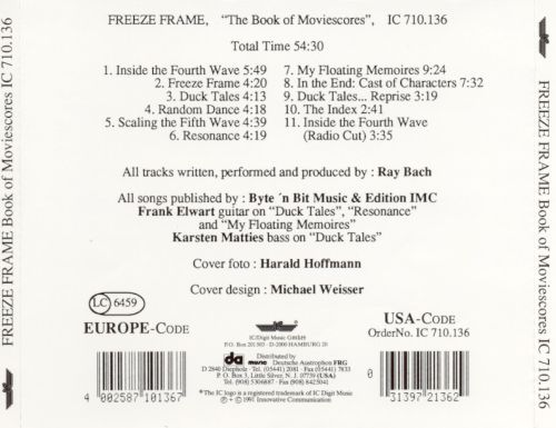 The Book of Moviescores - Freeze Frame | Songs, Reviews, Credits ...