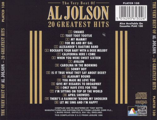 The Very Best of Al Jolson [Prism]