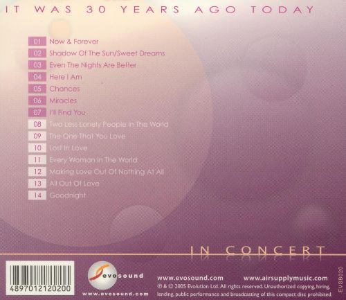 It Was 30 Years Ago Today: In Concert