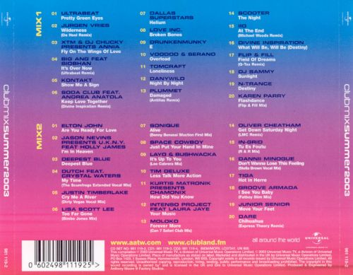 Clubmix Summer 2003