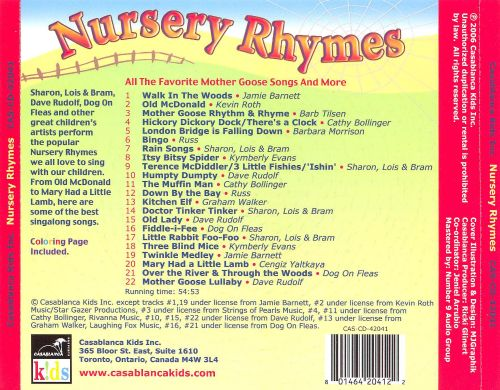 Nursery Rhymes [Casablanca Kids]