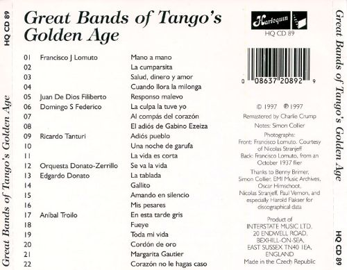 The Great Bands of Tango's Golden Age 1936-40