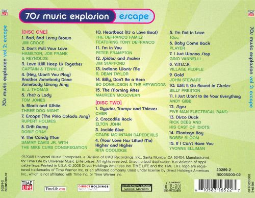 70s Music Explosion: Escape - Various Artists | Songs ...