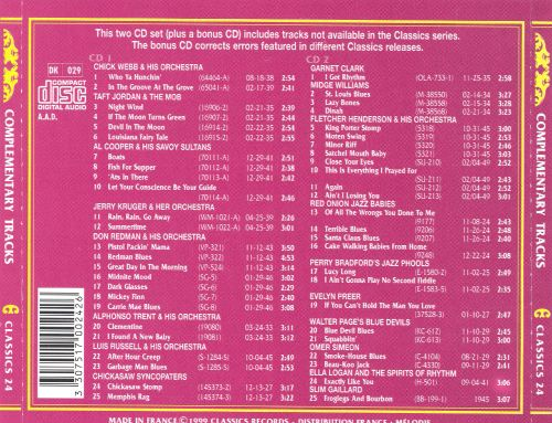 Complementary Tracks [Classics Records]