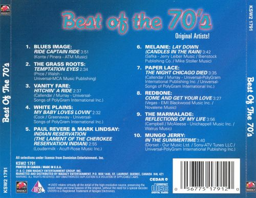 Best of the 70's [Blue]