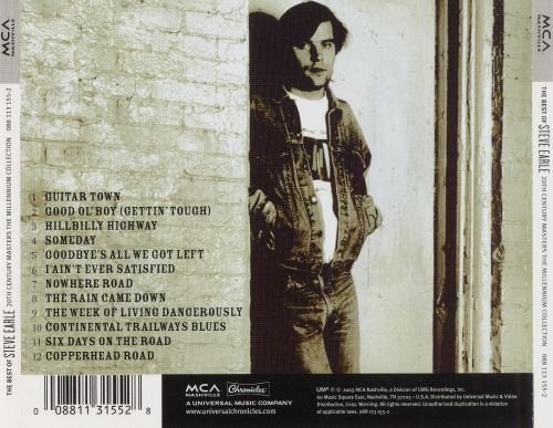 20th Century Masters - The Millennium Collection: The Best of Steve Earle