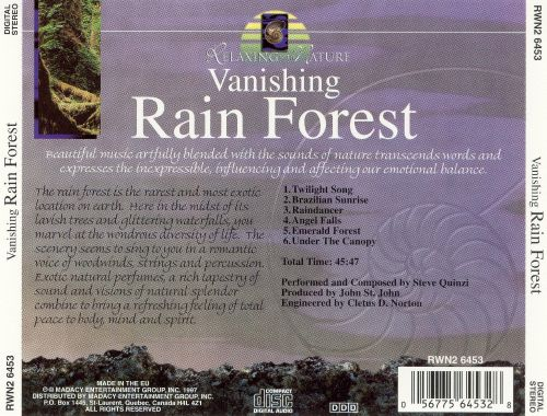 Relaxing With Nature: Vanishing Rain Forest