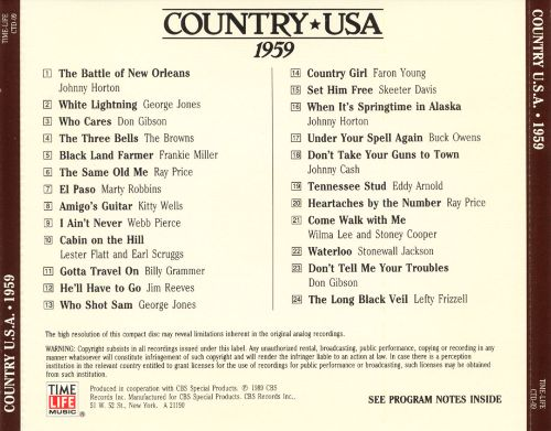 Country U.S.A.: 1959