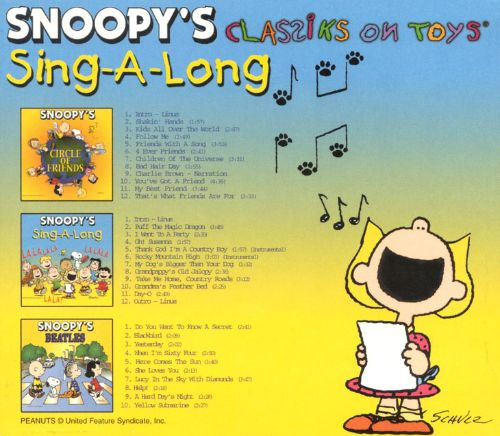 Snoopy's Classiks on Toys: Sing-A-Long [3 CD]