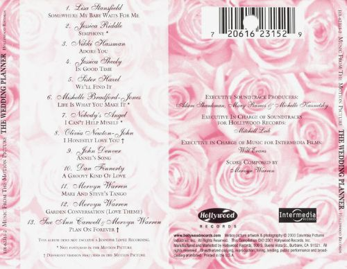 The Wedding Planner  Original Soundtrack  Songs Reviews Credits