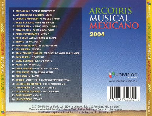 Arcoiris Musical Mexicano 2004