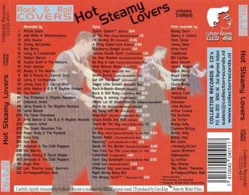 Rock and Roll Covers: Hot Steamy Lovers, Vol. 3