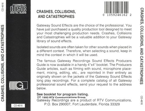 sound effects crashes collisions catastrophies various artists