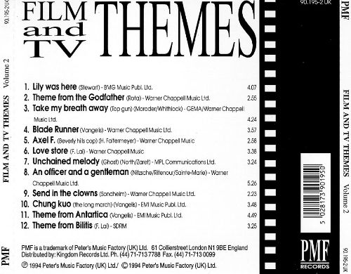 Film and TV Themes, Vol. 2 [PMF]