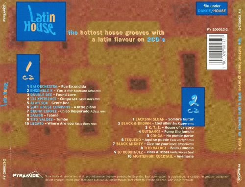 Latin House: Hottest House Grooves with a Latin Flavour on 2CD's