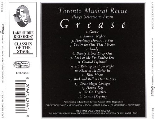 Plays Selections from Grease