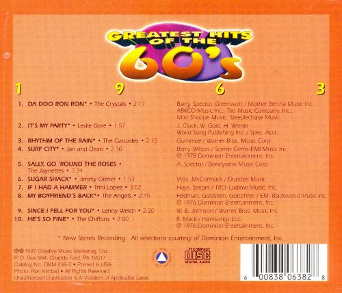 Greatest Hits of the 60's: 1963