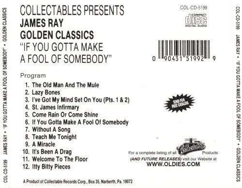 Golden Classics: If You Gotta Make a Fool of Somebody