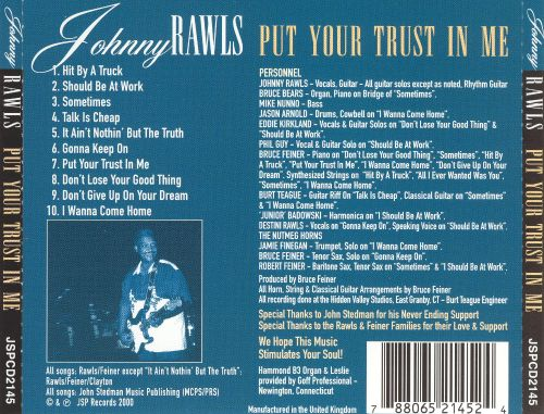Put Your Trust In Me Johnny Rawls Songs Reviews Credits Allmusic