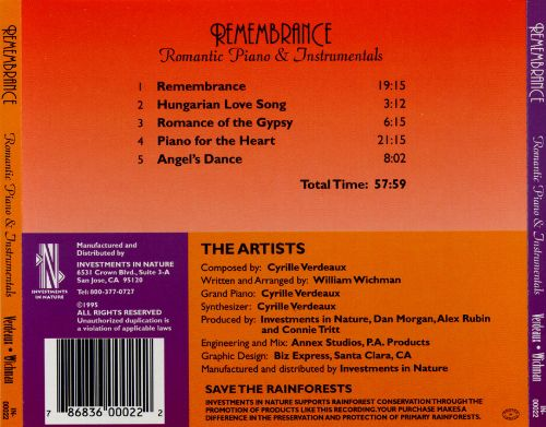 Remembrance: Romantic Piano & Instrumentals