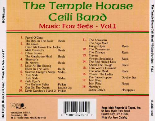 Temple House Ceile Band Music