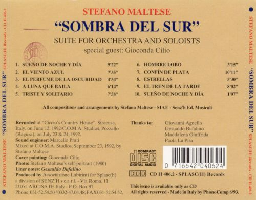 Sombra del Sur: Suite for Orchestra and Soloists