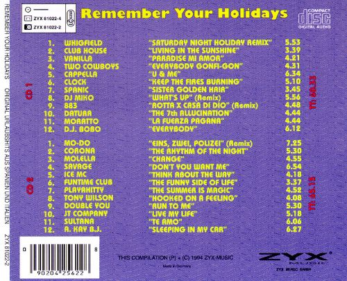 Remember Your Holidays