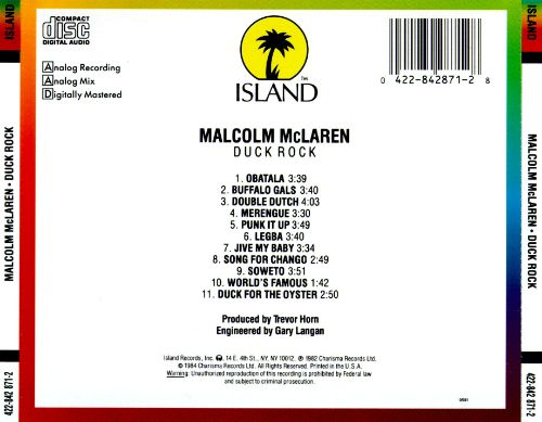 Duck Rock - Malcolm McLaren | Songs, Reviews, Credits | AllMusic