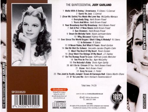 The Quintessential Judy Garland