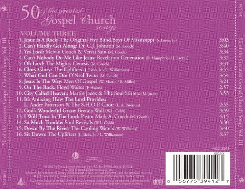 Fifty of the Greatest Gospel Church Songs, Vol. 3