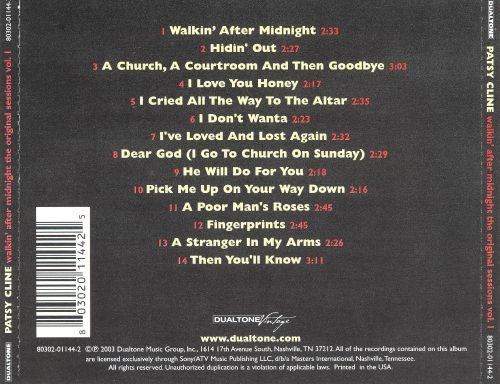 Walkin' After Midnight: The Original Sessions, Vol. 1