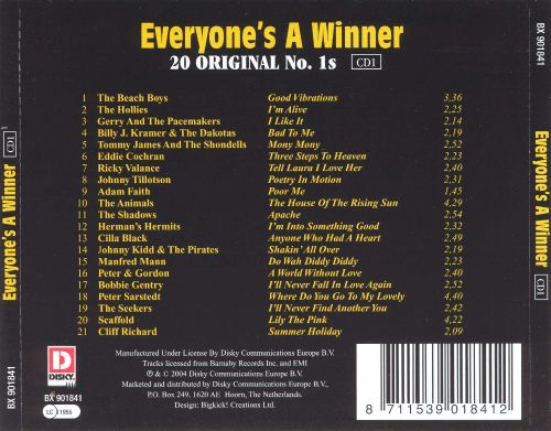 Everyone's A Winner: 20 Original No. 1's [CD1]