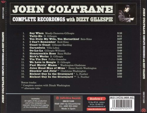 Complete Recordings with Dizzy Gillespie