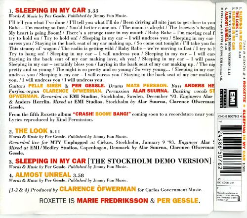 Sleeping in My Car [UK CD Single]