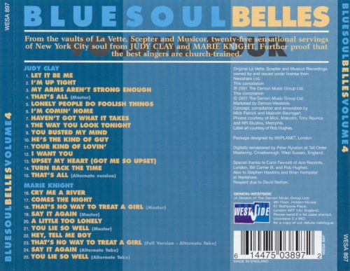 Bluesoul Belles, Vol. 4: The Scepter and Musicor Recordings