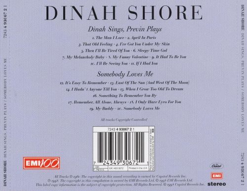 Dinah Sings, Previn Plays/Somebody Loves Me