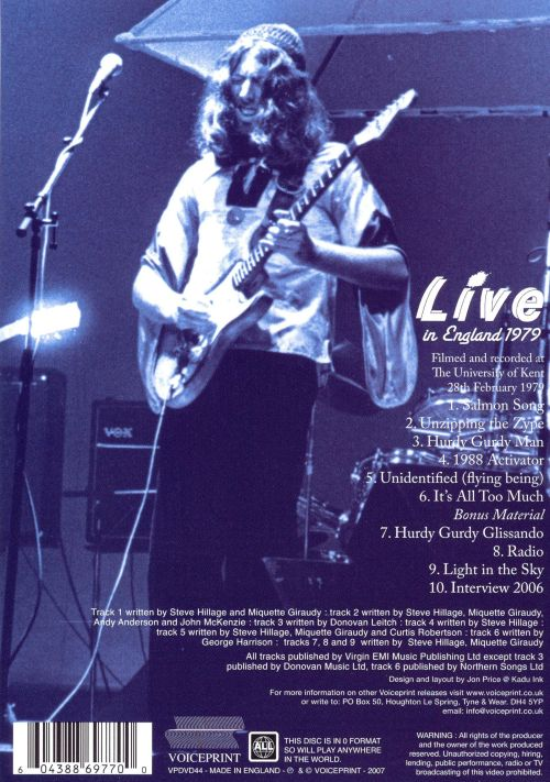 Live in Englad 1979 [DVD]