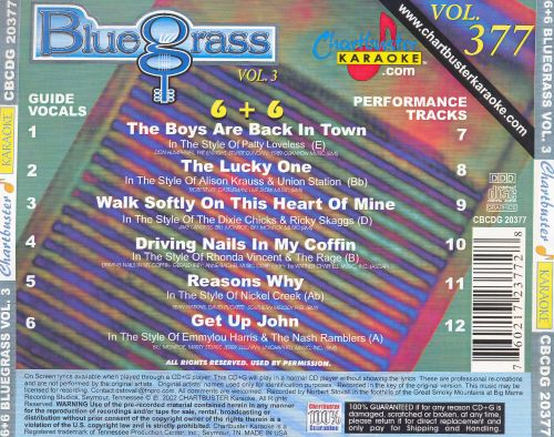 Chartbuster Karaoke: Bluegrass, Vol. 3