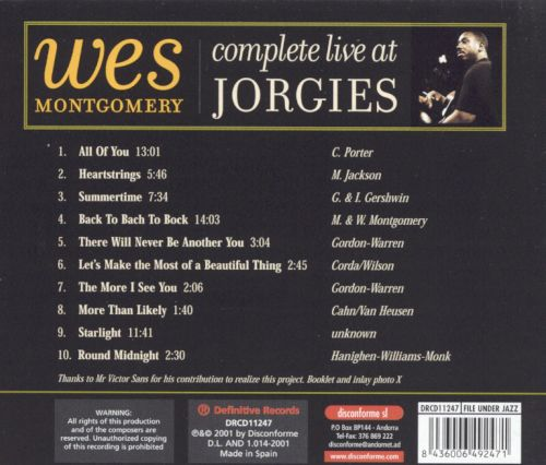 Complete Live at Jorgies