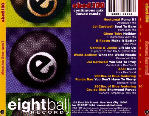 Dance for Me: Eightball Records House Mix, Vol. 5