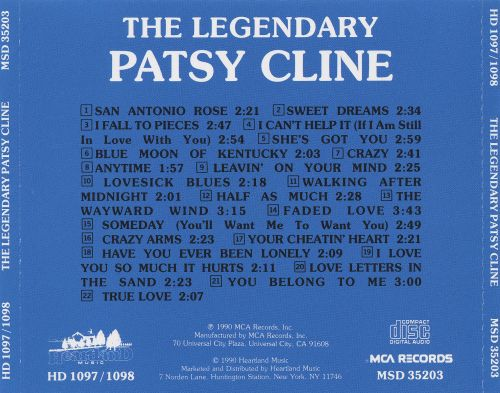 The Legendary Patsy Cline [Heartland]