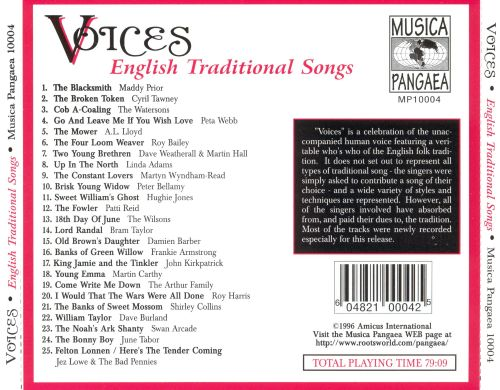 Voices: English Traditional Songs