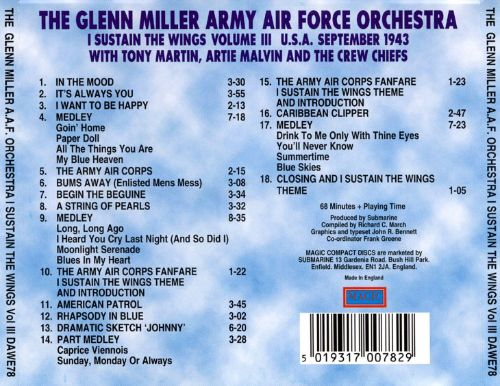 Army Air Force Orchestra: I Substain Wings, Vol. 3